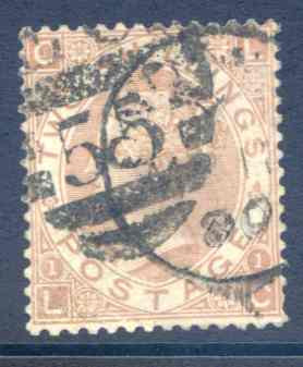 SG121 2/- Brown Fine Used Part CDS