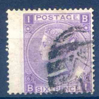 SG104 6d Violet Fine Used LH Wing Margin