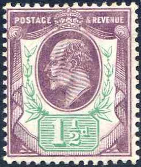 SG289 1 1/2d Slate Purple and Green Unmounted Mint