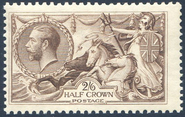 SG413a 2/6 Olive Brown Unmounted Mint