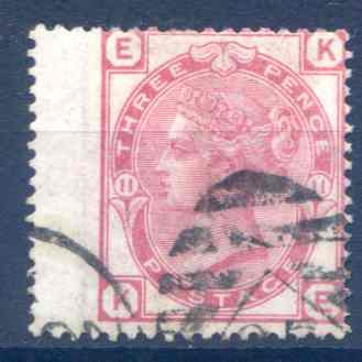 SG143 3d Rose Plate 11 Fine Used LH Wing Margin