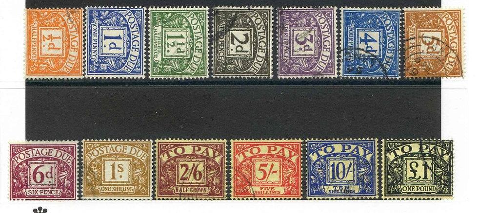 SGD56/68 Postage Due Set Fine Used