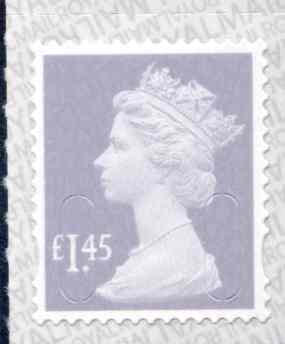 U2943 £1.45 Lavender Grey Unmounted Mint