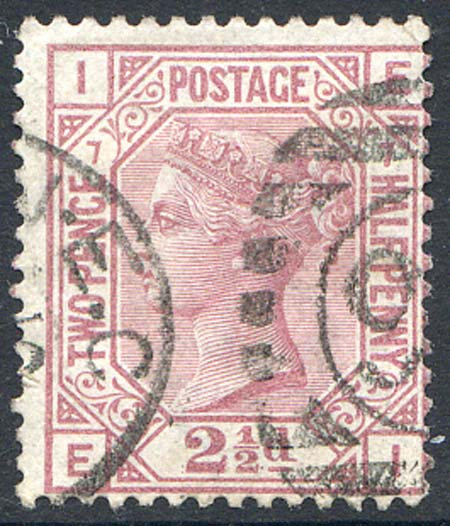 SG141 2 1/2d Rosy Mauve Plate 7 Fine Used