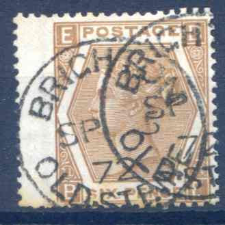 SG122a 6d Chestnut Fine Used LH Wing Margin Brighton CDS