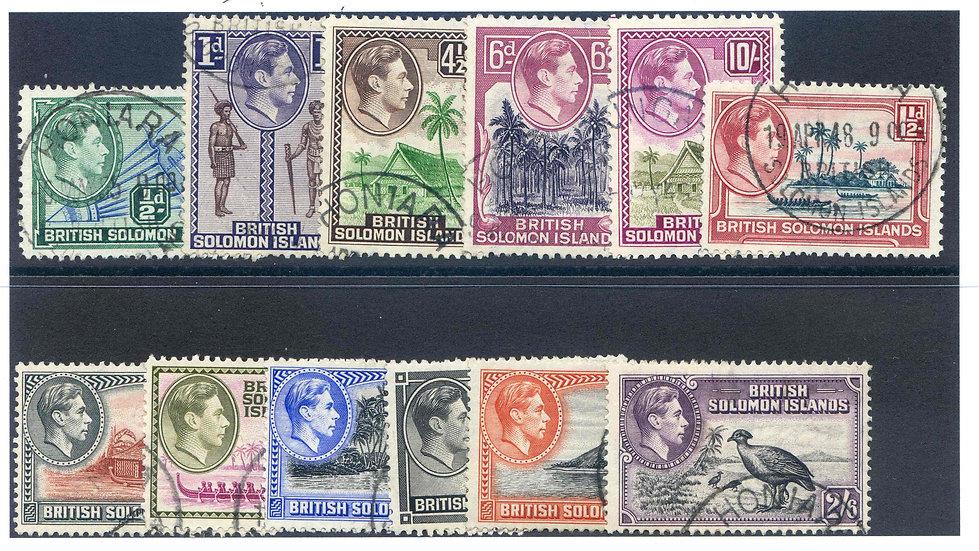 British Solomon Islands SG60/71 Part Set Fine Used