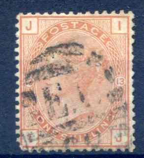 SG151 1/- Orange Brown Fine Used