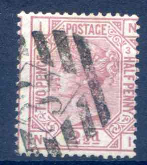 SG141 2 1/2d Rosy Mauve Plate 3 Fine Used