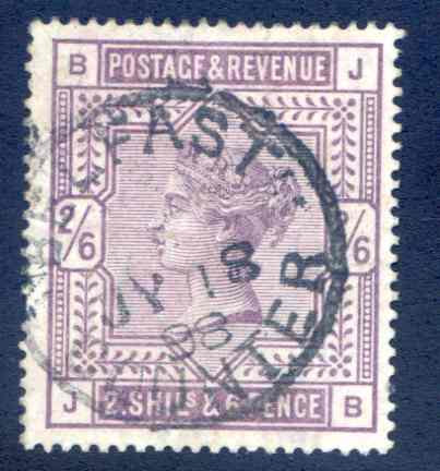 SG178 2/6 Lilac Fine Used. Part Belfast CDS