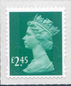 U2961 £2.45 Bluish Green Unmounted Mint