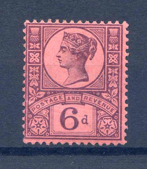 SG208a 6d Deep Purple/Rose Red Unmounted Mint