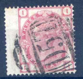 SG143 3d Rose Plate 16 Fine Used LH Wing Margin