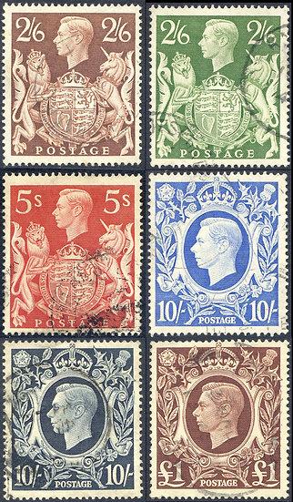 1939 High Value Set SG476/478c Fine Used