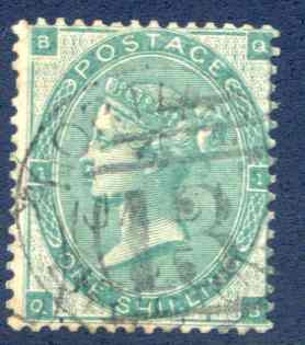 SG89 1/- Deep Green Fine Used Part CDS