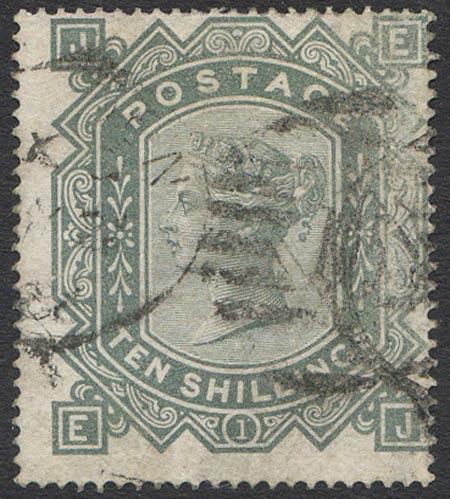 SG128 10/- Greenish Grey Fine Used