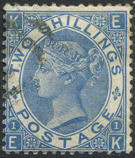 SG118 2/- Dull Blue Very Fine Used Light Cancel