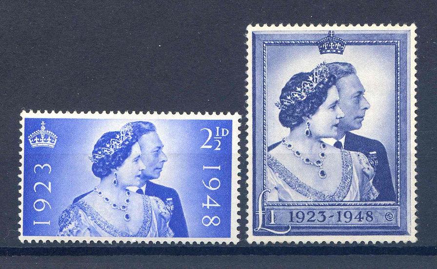 SG493/4 1948 Silver Wedding Set Unmounted Mint