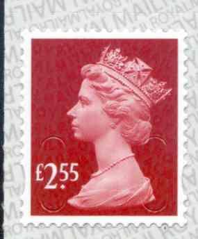 U2962 £2.55 Deep Rose Red Unmounted Mint