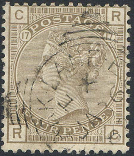 SG160 4d Grey Brown Plate 17 Very Fine Used
