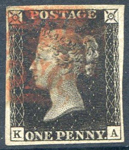 Penny Black (KA) Plate 7 Fine Used