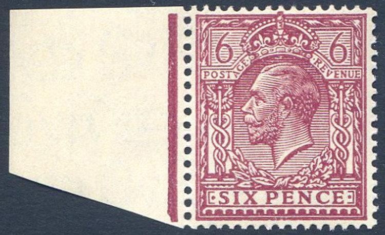 Spec N42/4 6d Deep Reddish Purple Unmounted Mint