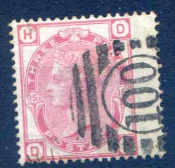 SG143 3d Rose Plate 15 Fine Used RH Wing Margin