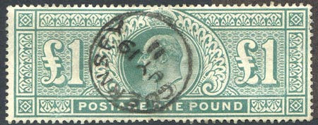 SG266 £1 Dull Blue Green Fine Used Guernsey CDS