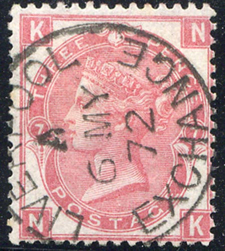SG103 Plate 7 3d Rose Very Fine Used Liverpool Exchange CDS Dated 6 MY 72