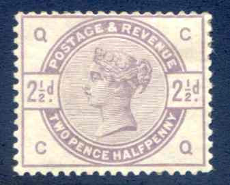 SG190 2 1/2d Lilac Mounted Mint