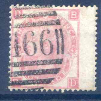 SG103  3d Rose Plate 4 RH Wing Margin Fine Used