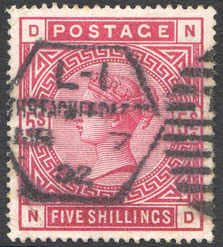 SG181 5/- Crimson Fine Used
