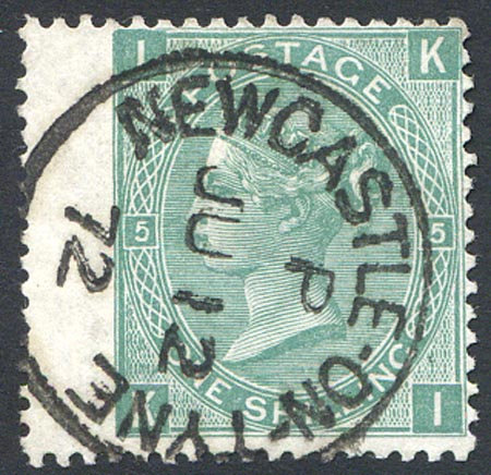 SG117 Plate 5 Very Fine Used Crisp Newcastle On Tyne CDS Dated JU 12 72