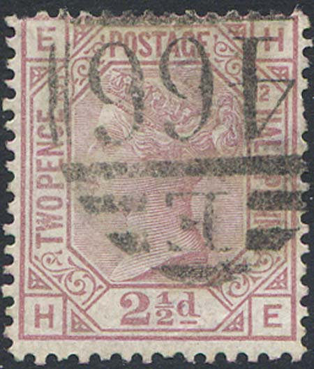 SG141 2 1/2d Rosy Mauve Plate 12 Fine Used