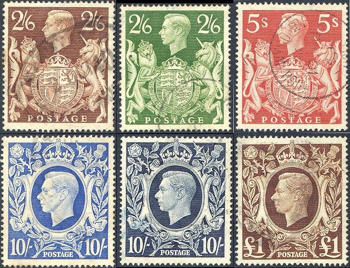 1939 High Value Set SG476/478c Fine Used