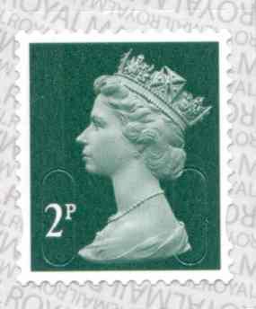 U2921 2p Deep Green M17L Unmounted Mint