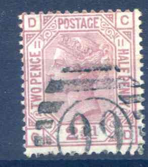 SG141 2 1/2d Rosy Mauve Plate 11 Fine Used