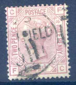 SG141 2 1/2d Rosy Mauve Plate 16 Fine Used