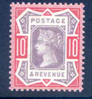 SG210b 10d Purple/Dull Scarlet Unmounted Mint