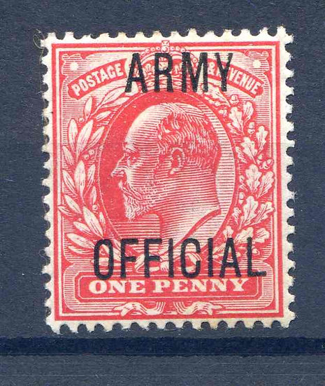 SG049 1d Army Official Mounted Mint