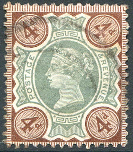 SG205 4d Green & Purple Brown Fine Used Light Cancel