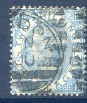 SG120 2/- Milky Blue Fine Used