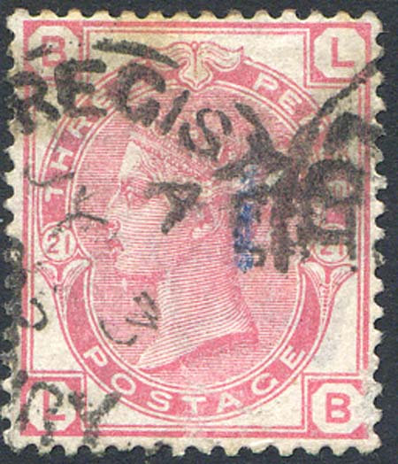 SG158 3d Rose Plate 21 Fine Used Clear Profile