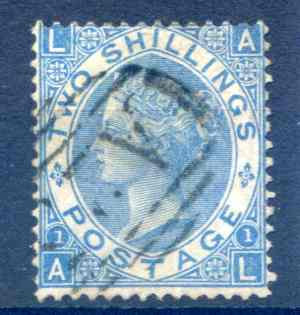 SG118 2/- Dull Blue Fine Used
