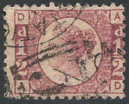 SG48 1/2d Rose Red Plate 4 Fine Used