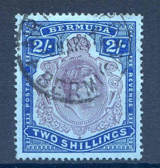 Bermuda 2/- Deep Purple and Ultramarine SG116 Fine Used