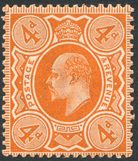 SG286Var 4d Bright Orange Spec M27/1 Unmounted Mint
