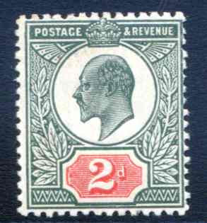 SG291 2d Deep Dull Green and Carmine Spec M13/2 Unmounted Mint