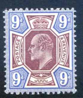 SG306 9d Reddish Purple & Light Blue Unmounted mint