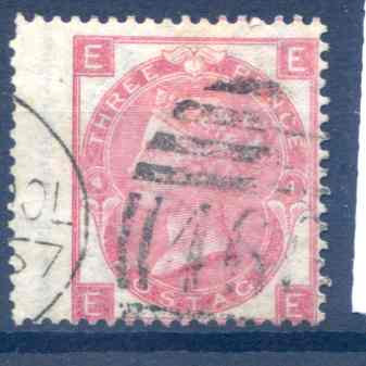 SG103  3d Rose Plate 4 LH Wing Margin Fine Used