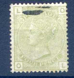 SG153 4d Sage Green Plate 15 Fine Used Clear Profile
